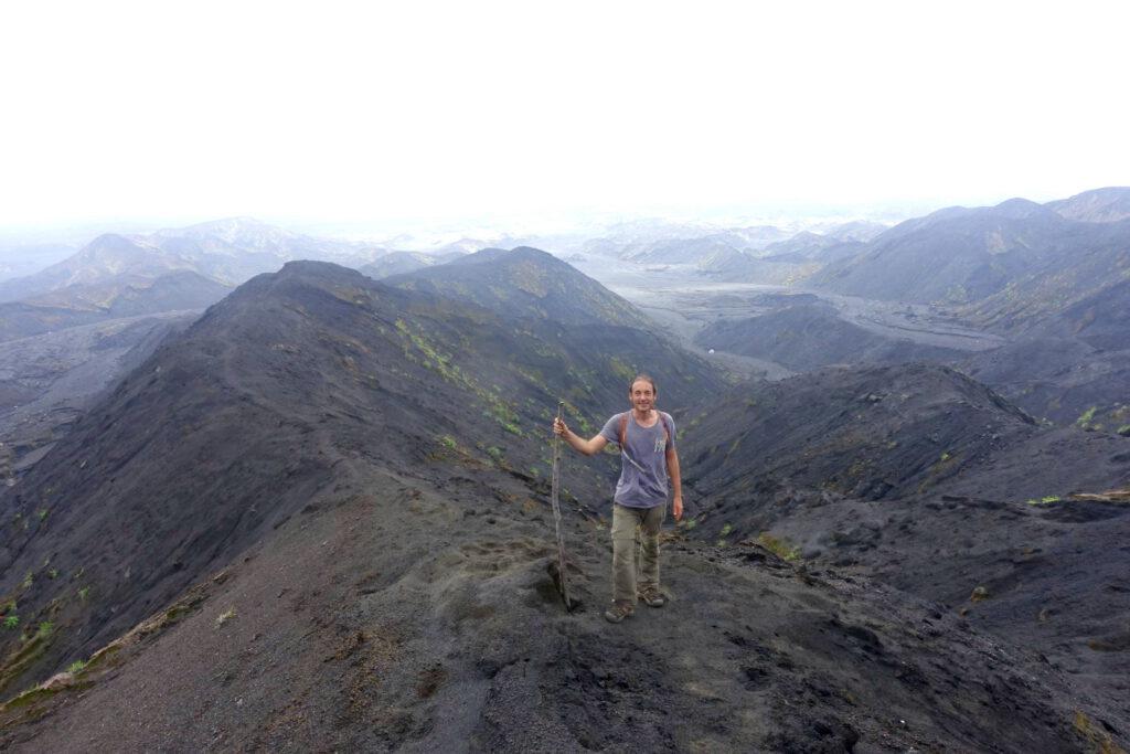 Wanderweg zum Vulkan Benbow über die Ascheebene von Ambrym.