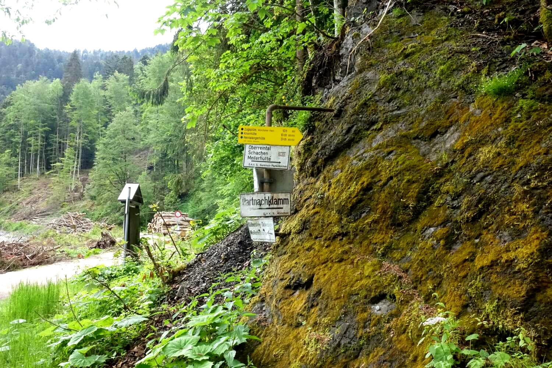 Beginn des Wanderweges auf die Zugspitze.