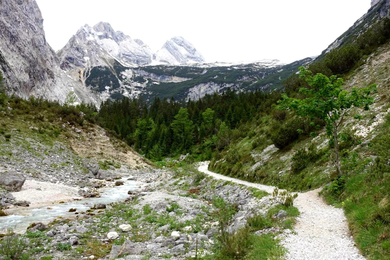 Unteres Reintal auf dem Weg zur Zugspitze.