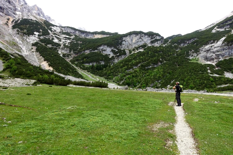 Reintalanger und steiler Aufstieg zur Zugspitze.