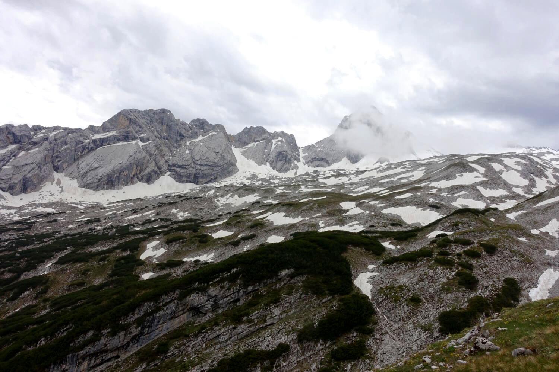 Blick ins Wettersteingebirge.