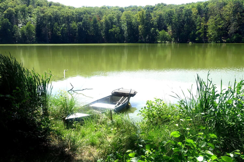 Boot am Ufer der Schaube.