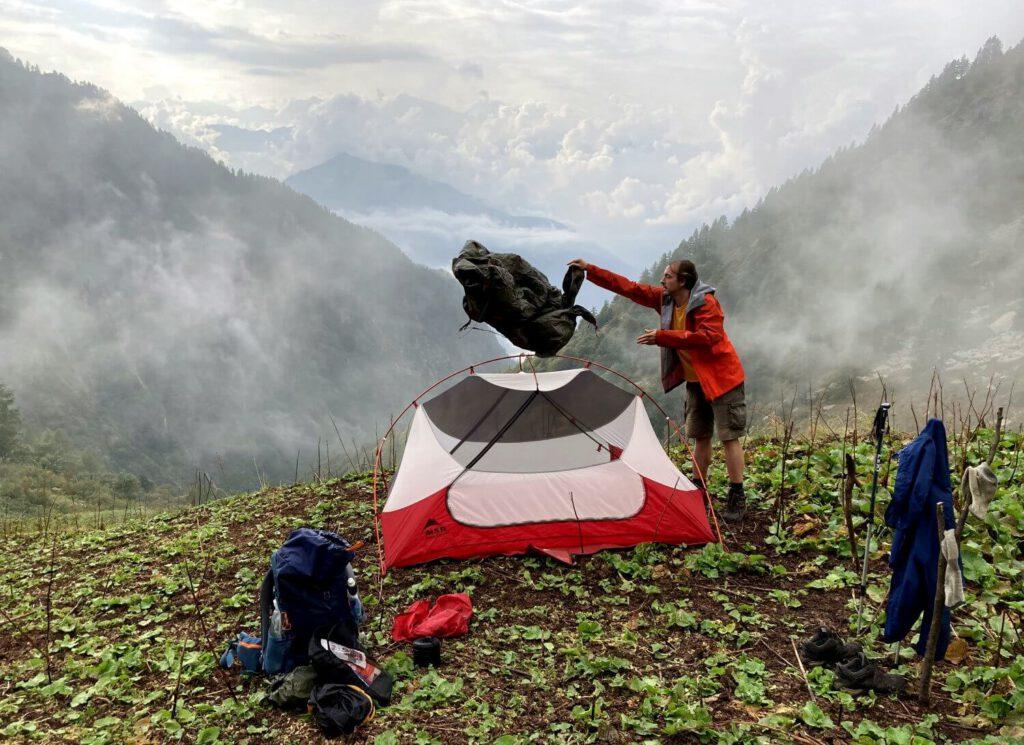 Zelten im Val Grande.