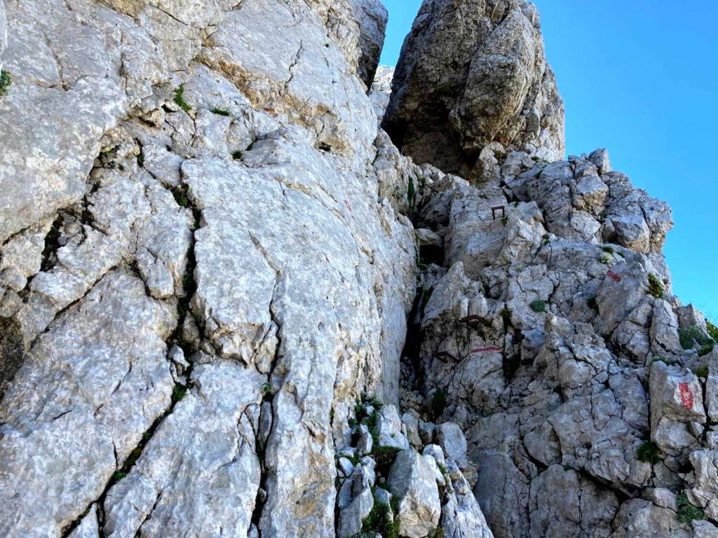 Der Aufstieg zum Bovški Gamsovec im Triglav-Nationalpark.