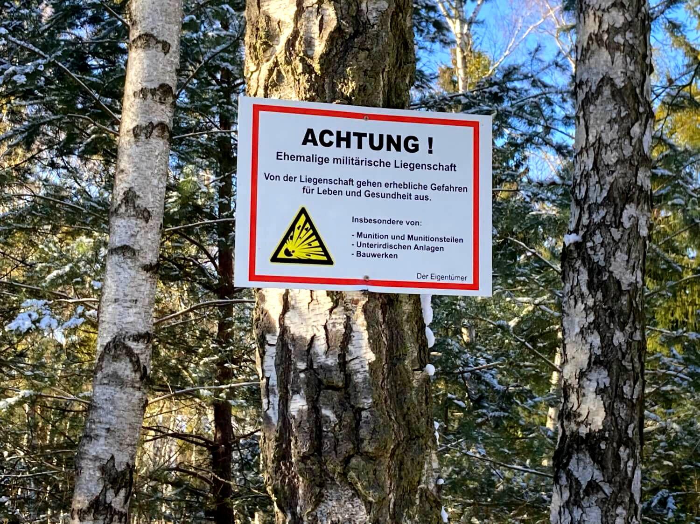 Kaserne Vogelsang Warnschild