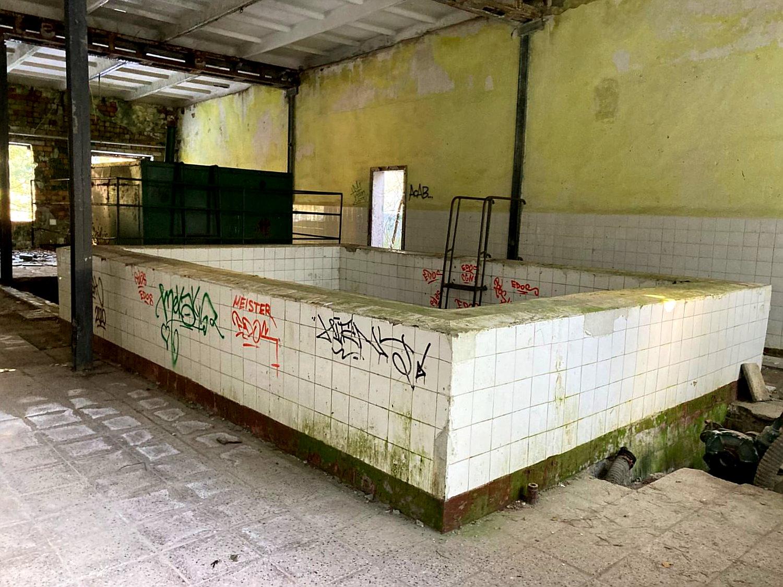 Tauchbecken für Übungszwecke in Vogelsang.