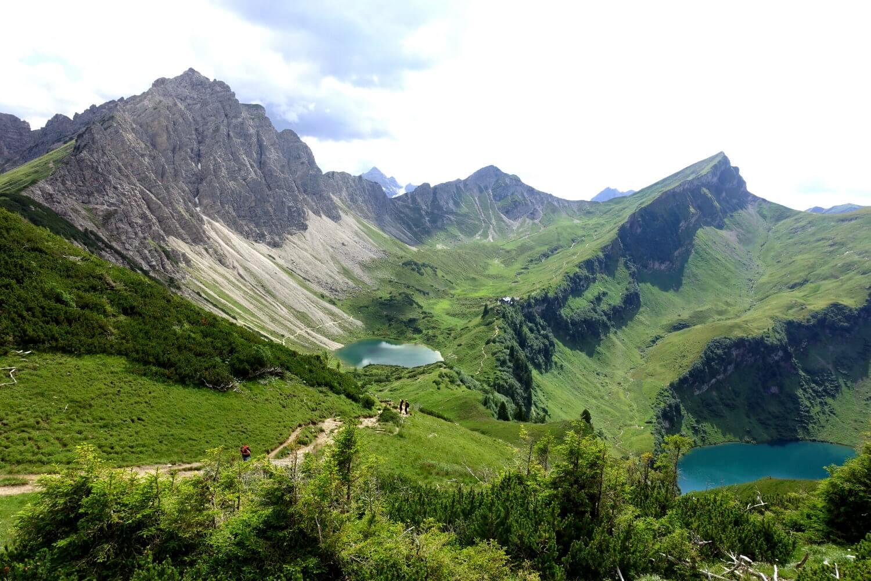 Berpanorama in Österreich.