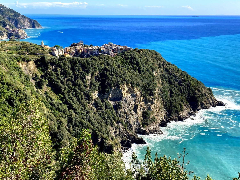 Blick vom Wandern in Cinque Terre.