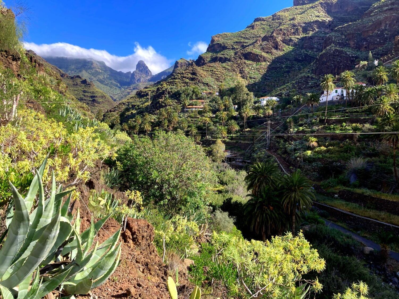 La Gomera Wandern in der Guarirmar Schlucht.