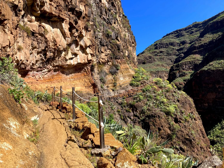 Steilwand im Barranco de Guarimar.