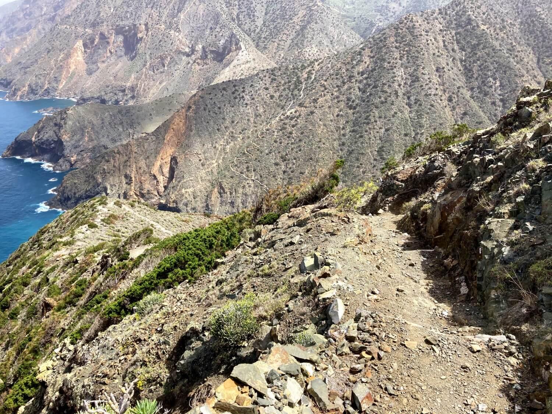 Abstieg von der Cumbre de Chijere.