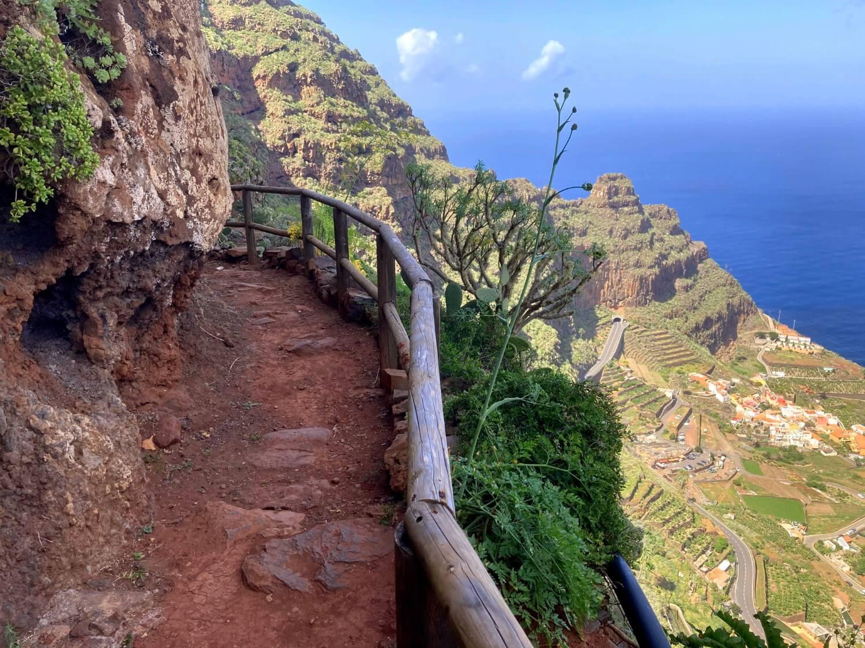 Steilwand von Agulo La Gomera.