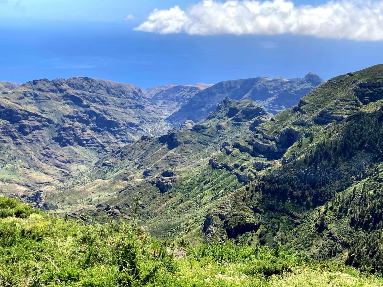 Toller Blick in die Barrancos von La Gomera.