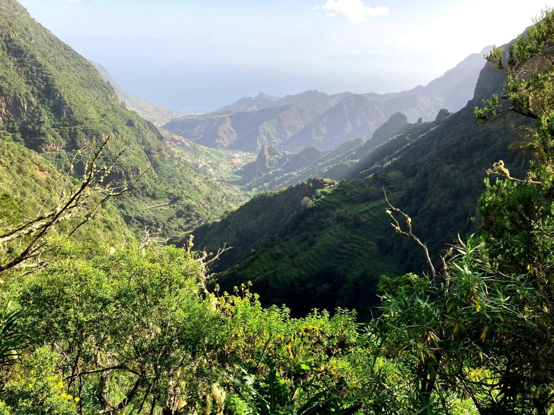 Ausblick auf das Tal von Hermigua.