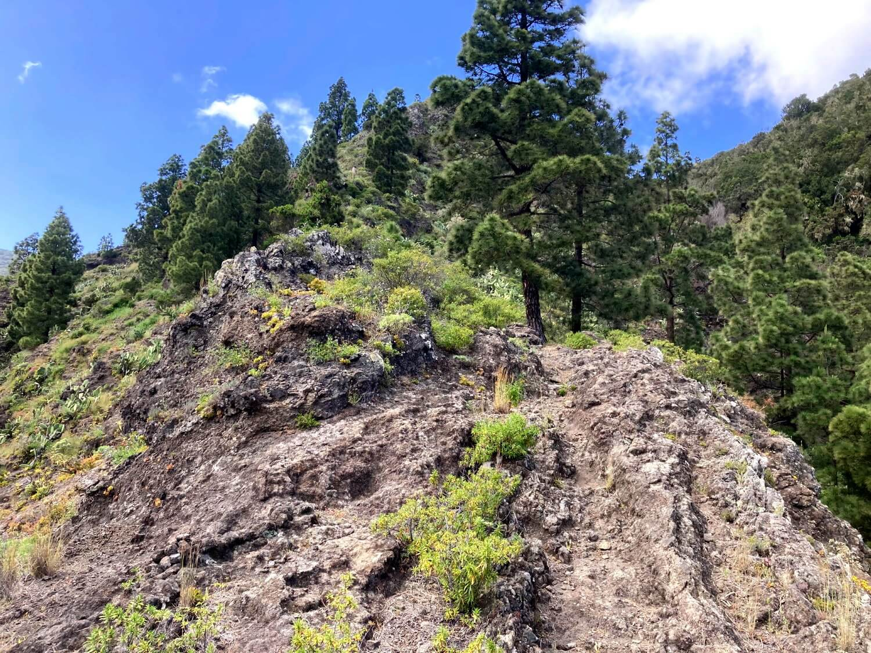 Steiler Wanderweg in La Gomera.