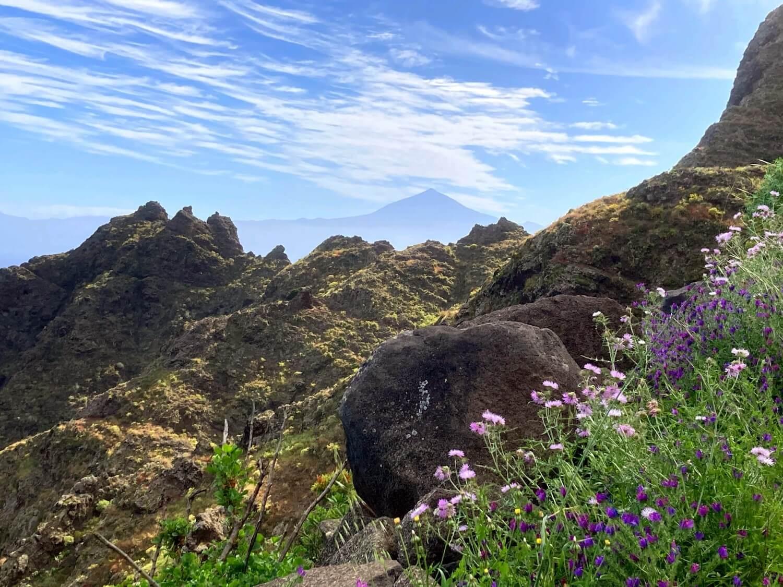 Blick auf den Teide auf Tenereriffa.