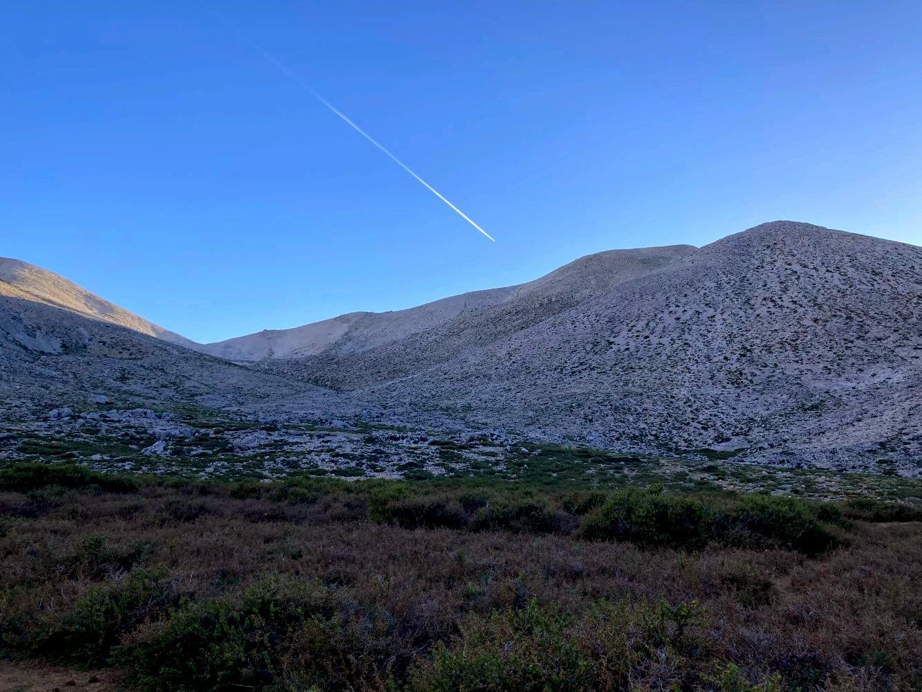 Abendstimmung in einem Tal der Weißen Berge von Kreta.