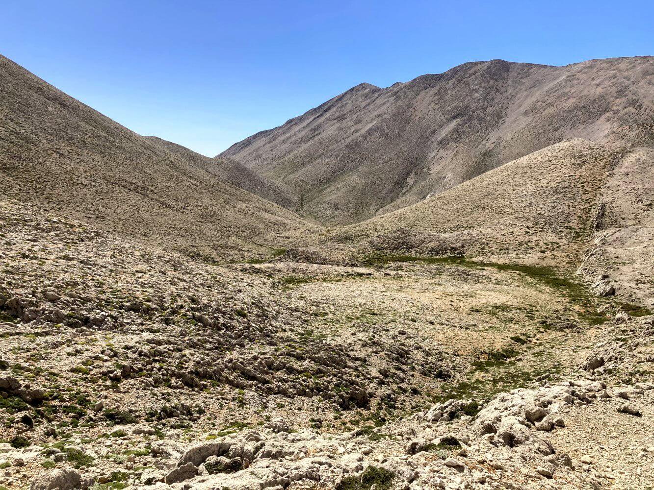 Unterwegs in den Lefka Ori verlassenes Tal.