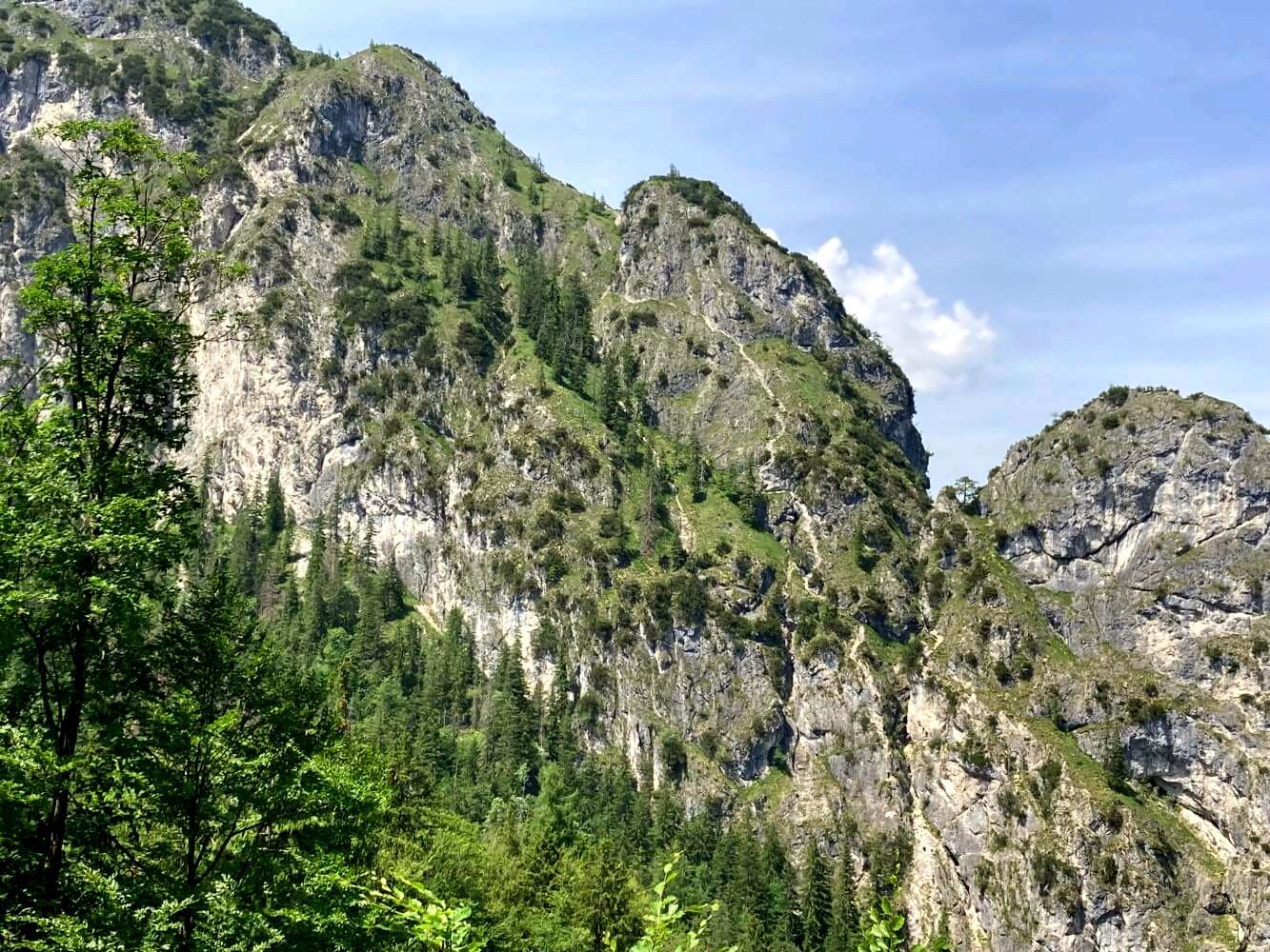 Grünstein-Klettersteig im Nationalpark Berchtesgaden.