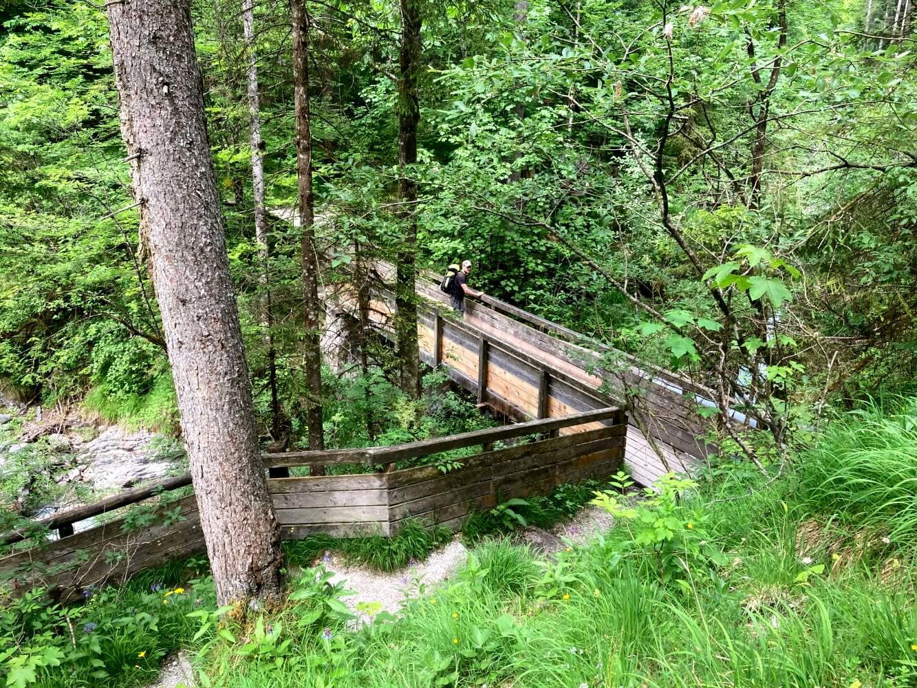 Brücke in der Wimbachklamm.