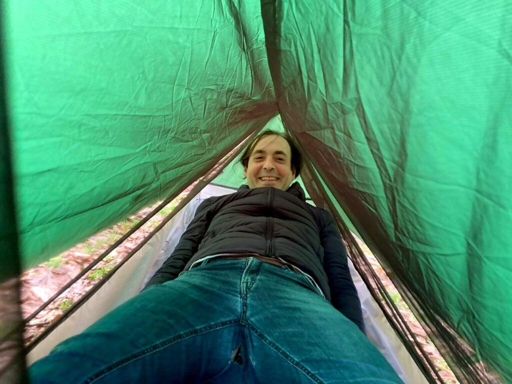 Probliegen im Ultraleicht-Zelt Trekkertent Stealth