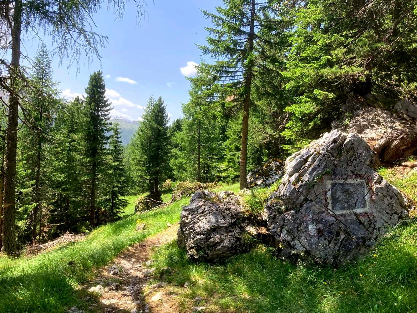 Wanderweg auf dem Dolomiten-Höhenweg 1.