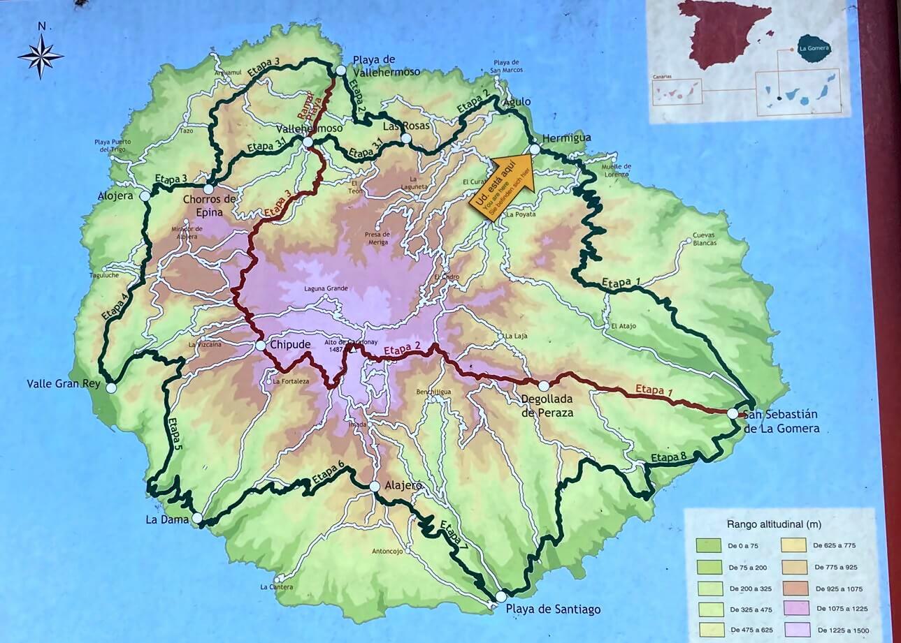 Gr 132 La Gomera Karte.