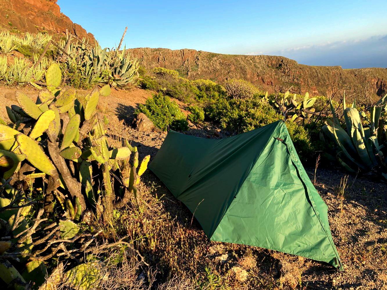 Zelten auf dem GR 132 in La Gomera.