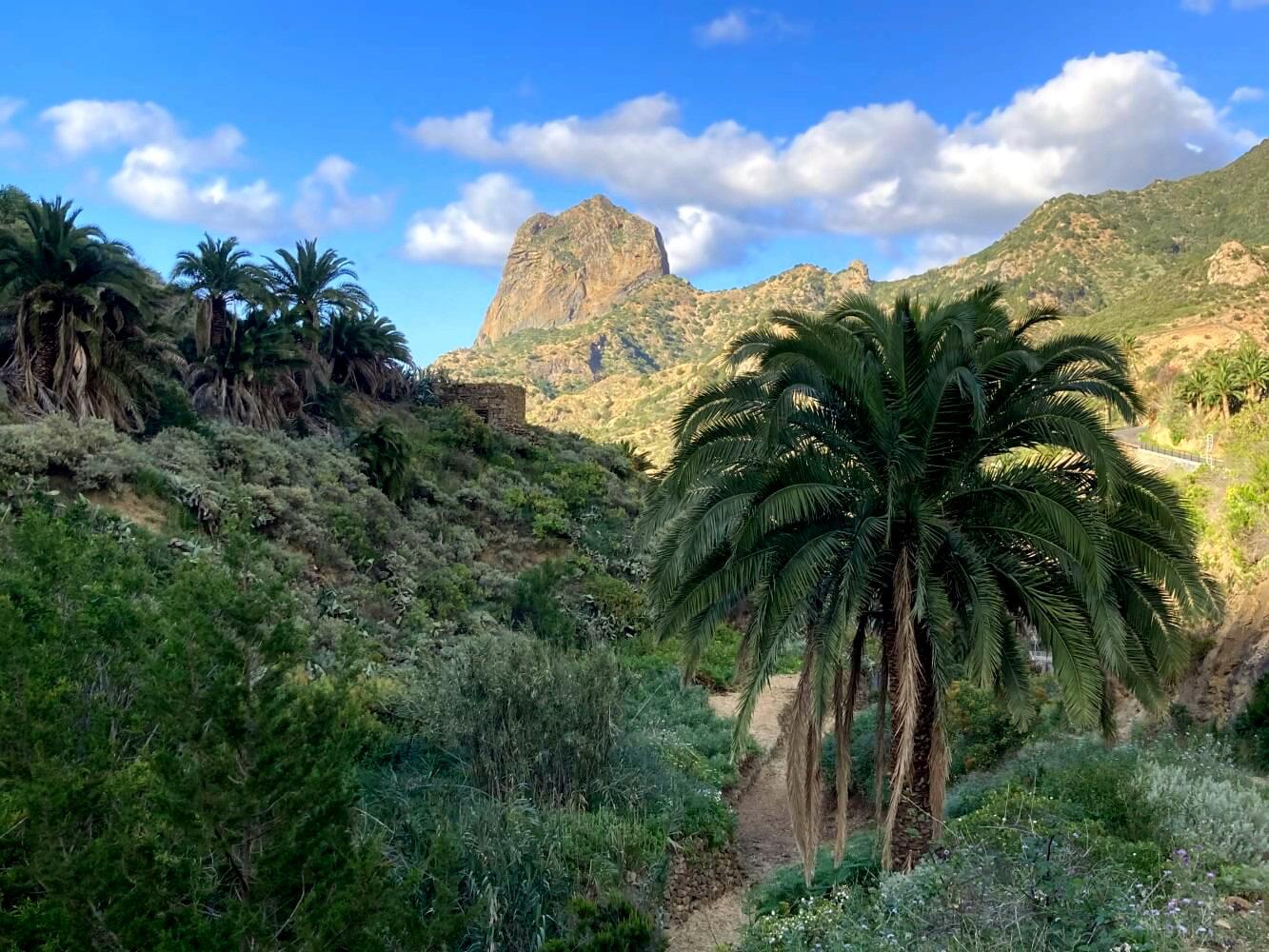 Wanderweg nach Vallehermoso mit Roque Cano.